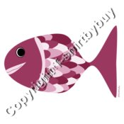 fish in fucsia